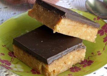 Шоколадные квадратики из печенья