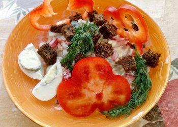 Салат из шампиньонов с болгарским перцем