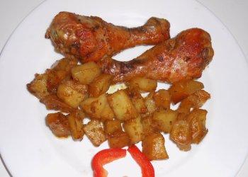 Куриные ножки с картофелем в медовом соусе