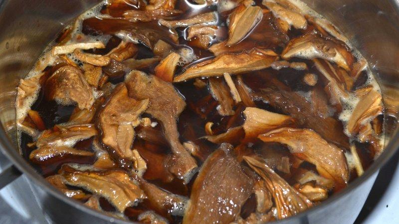 Гречневая каша с лесными сушеными грибами, приготовленная в мультиварке | Рецепт приготовления | Шаг 2