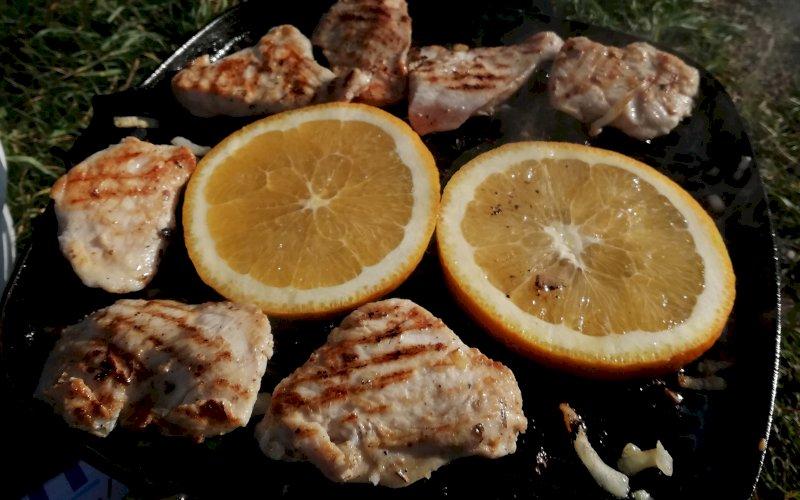 Курица с апельсинами на мангале | Рецепт приготовления | Шаг 1