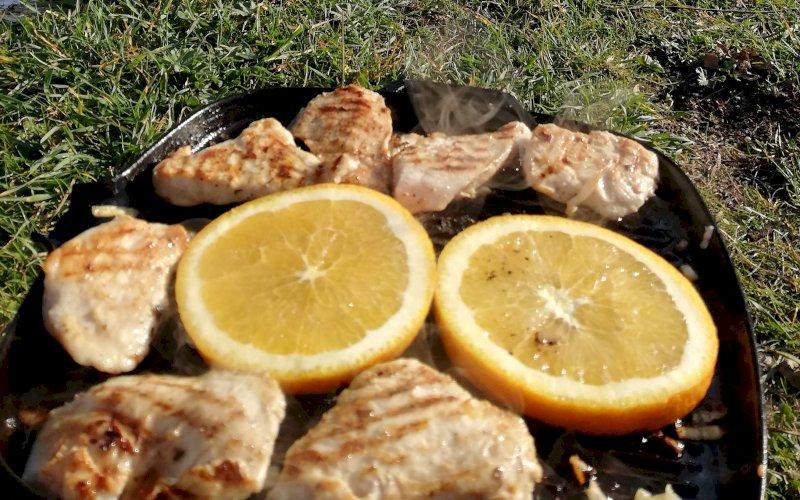 Курица с апельсинами на мангале | Рецепт приготовления | Шаг 2