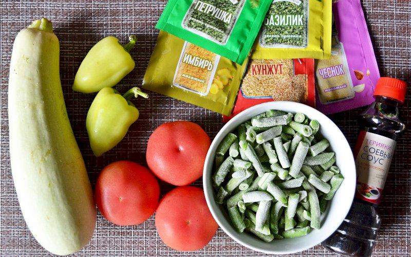 Овощи по-азиатски | Рецепт приготовления | Шаг 1